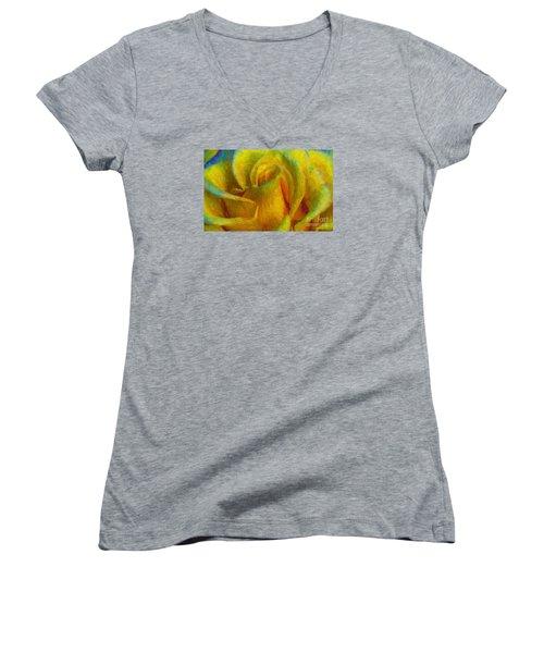 In Memory Of Vincent Women's V-Neck T-Shirt (Junior Cut) by John  Kolenberg