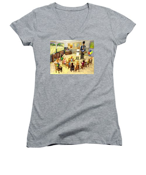 In The Classroom Women's V-Neck T-Shirt