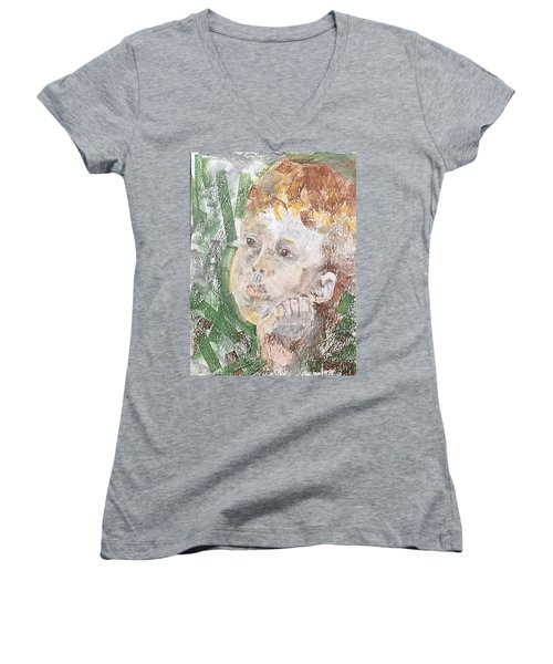 In The Eyes Of A Child Women's V-Neck