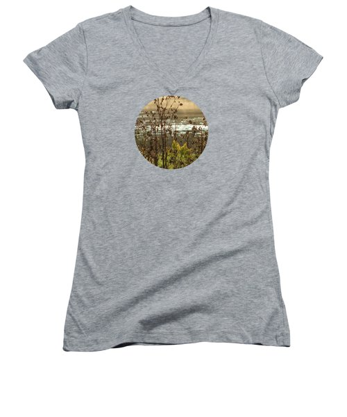 In The Golden Light Women's V-Neck T-Shirt (Junior Cut) by Mary Wolf