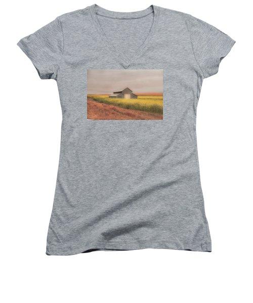 In The Horizon Women's V-Neck T-Shirt