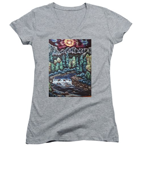 In The Land Of Dreams Women's V-Neck T-Shirt (Junior Cut) by Cheryl Pettigrew