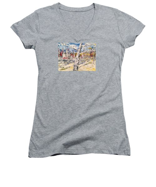 In The Middle Women's V-Neck T-Shirt