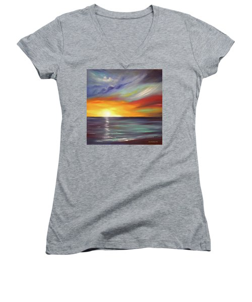 In The Moment Square Sunset Women's V-Neck