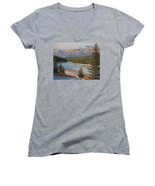 In The Morning Sun Women's V-Neck T-Shirt