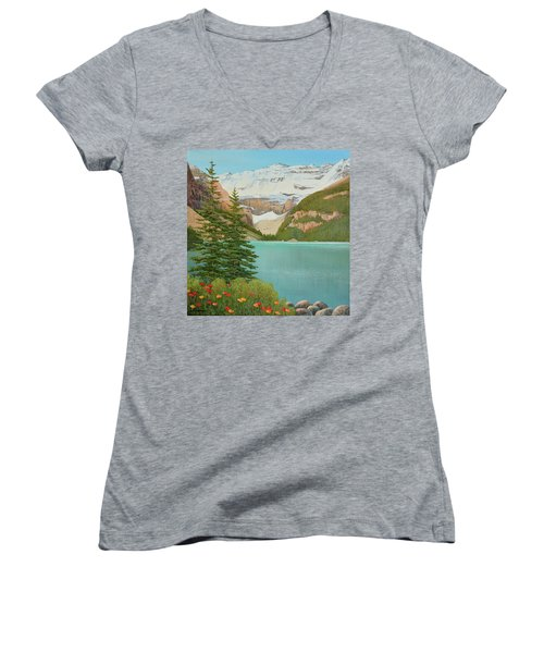 In The Mountain Air Women's V-Neck T-Shirt