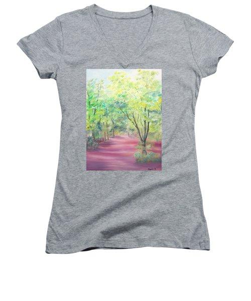 In The Park Women's V-Neck T-Shirt
