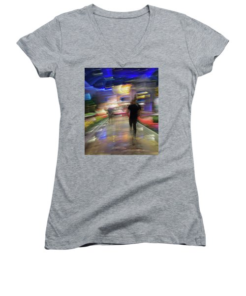 Women's V-Neck T-Shirt featuring the photograph In The Presence Of The Sun God by Alex Lapidus