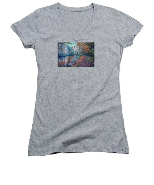 In The Stillness Of The Morning Women's V-Neck T-Shirt