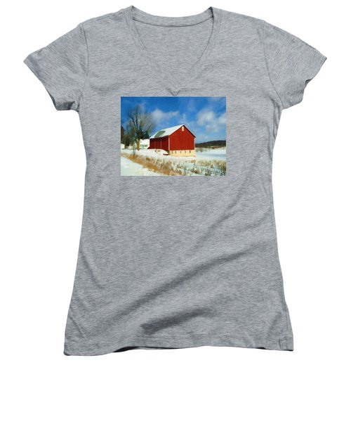 In The Throes Of Winter Women's V-Neck (Athletic Fit)