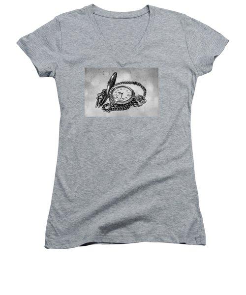 In Time Women's V-Neck T-Shirt