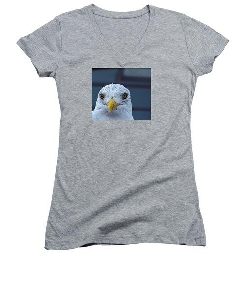 In Your Face Gull Women's V-Neck T-Shirt