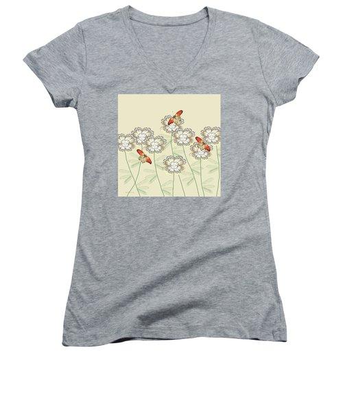 Incendia Flower Garden Women's V-Neck T-Shirt