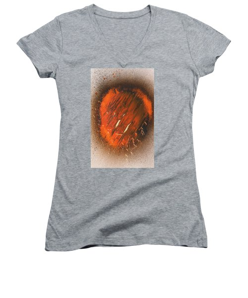 Incendiary Burn Through Women's V-Neck (Athletic Fit)