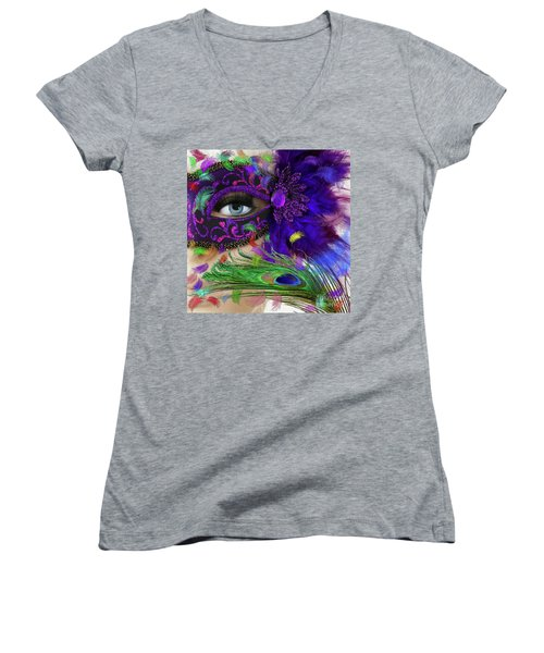 Incognito Women's V-Neck T-Shirt (Junior Cut) by LemonArt Photography