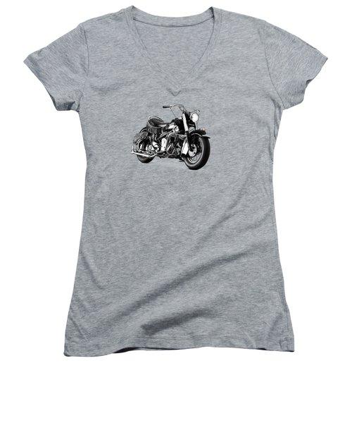 Indian Chief Roadmaster 1953 Women's V-Neck T-Shirt (Junior Cut) by Mark Rogan