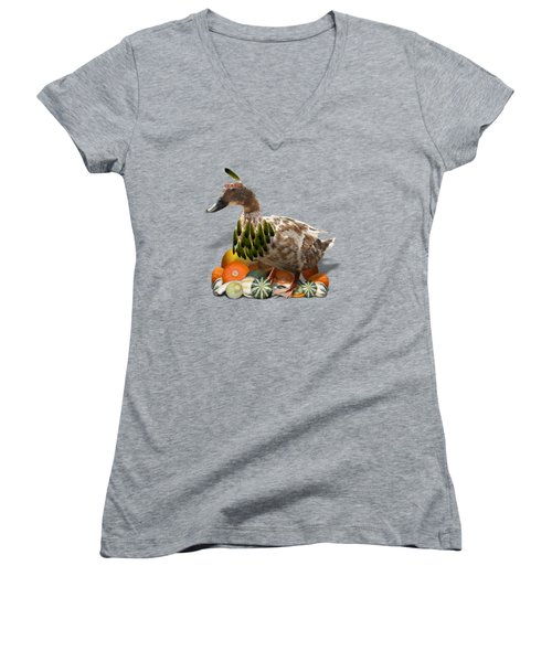 Indian Duck Women's V-Neck (Athletic Fit)
