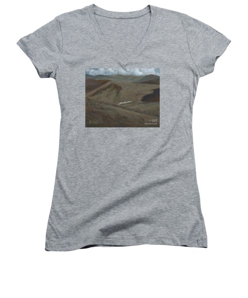 Indian Lodge - A View From The Top Ft. Davis, Tx Women's V-Neck