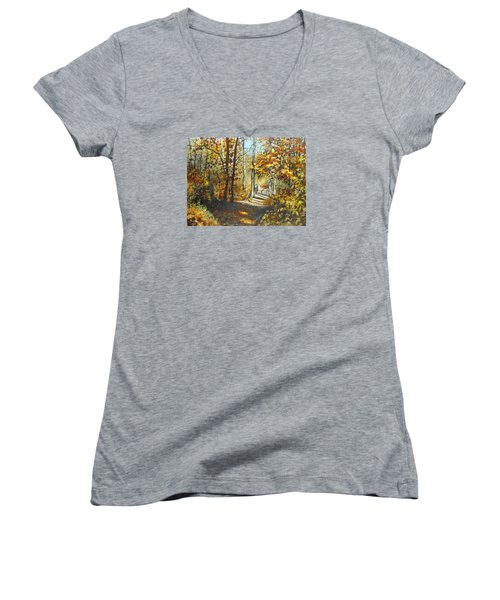 Indian Summer Trail Women's V-Neck