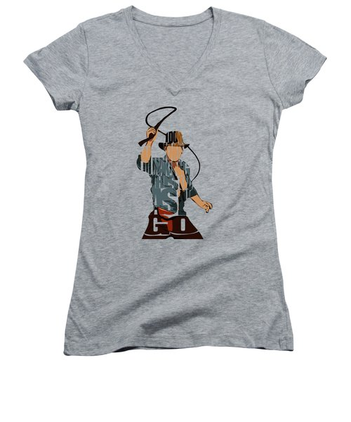 Indiana Jones - Harrison Ford Women's V-Neck (Athletic Fit)