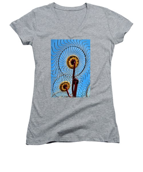 Indiana Sky Women's V-Neck T-Shirt