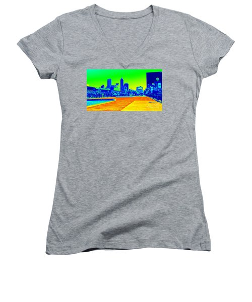 Indianapolis Heat Tone Women's V-Neck (Athletic Fit)