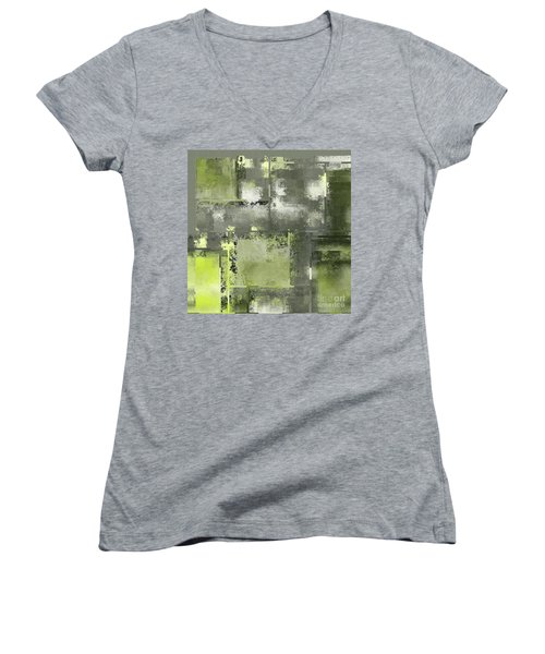 Industrial Abstract - 11t Women's V-Neck T-Shirt (Junior Cut) by Variance Collections