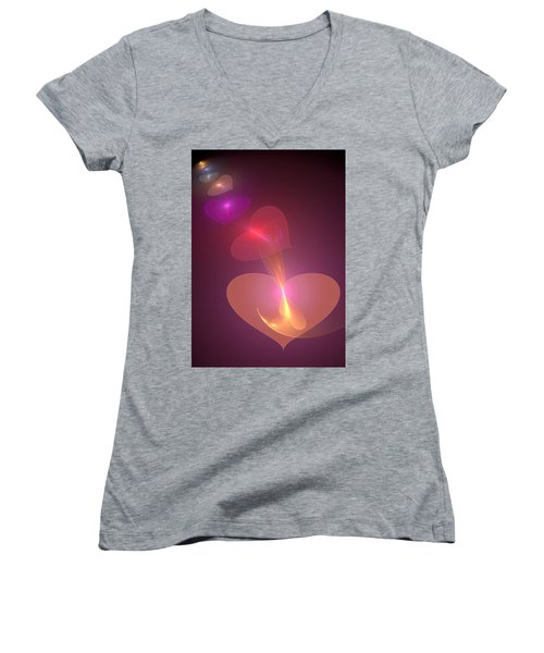 Women's V-Neck T-Shirt (Junior Cut) featuring the digital art Infinite Love by Svetlana Nikolova