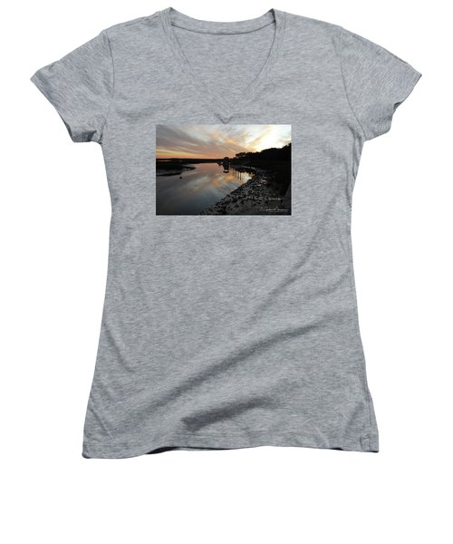 Inlet Sunset Women's V-Neck T-Shirt