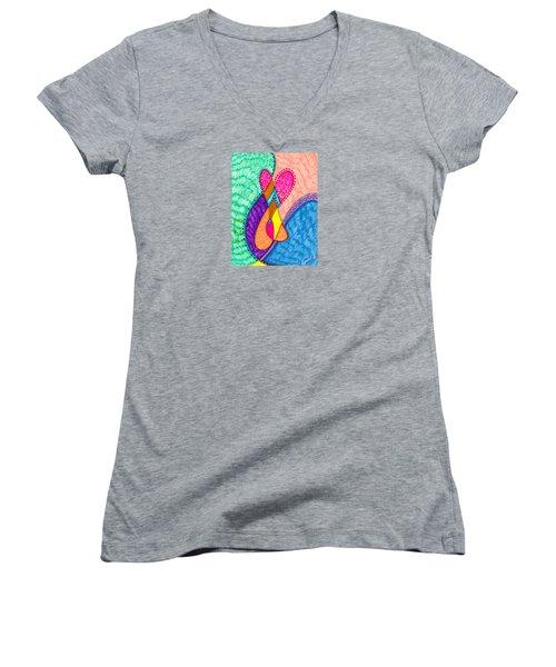 Inner Heart - V Women's V-Neck (Athletic Fit)
