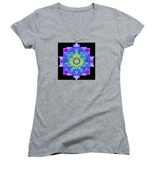 Inner Light Mandala Women's V-Neck T-Shirt
