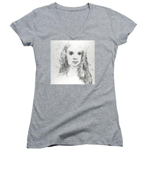 Innocence Women's V-Neck T-Shirt (Junior Cut) by Anton Kalinichev
