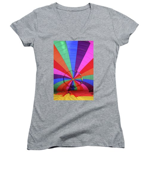Women's V-Neck T-Shirt (Junior Cut) featuring the photograph Inside Out by Marie Leslie