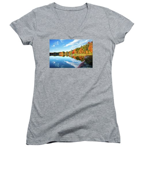 Women's V-Neck T-Shirt (Junior Cut) featuring the photograph Inspiration by Greg Fortier
