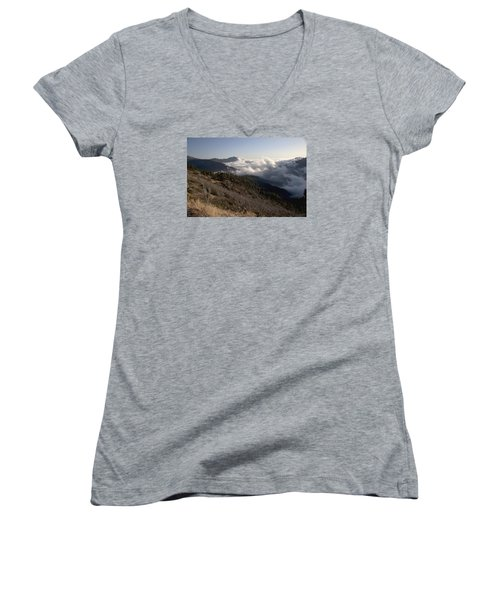 Women's V-Neck T-Shirt (Junior Cut) featuring the photograph Inspiration Point View by Ivete Basso Photography