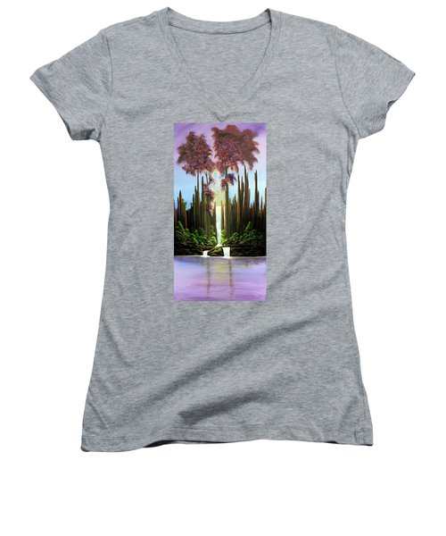 Inspireation Falls Women's V-Neck T-Shirt