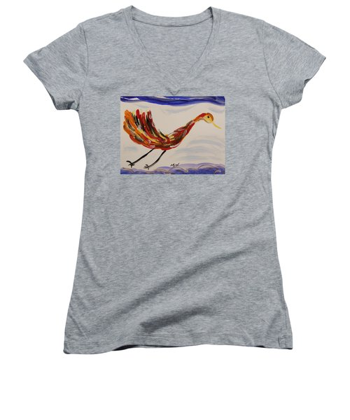 Inspired By Calder's Only Only Bird Women's V-Neck (Athletic Fit)