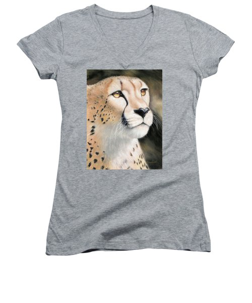 Intensity - Cheetah Women's V-Neck (Athletic Fit)