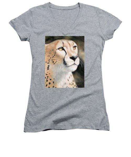 Intensity - Cheetah Women's V-Neck (Athletic Fit)
