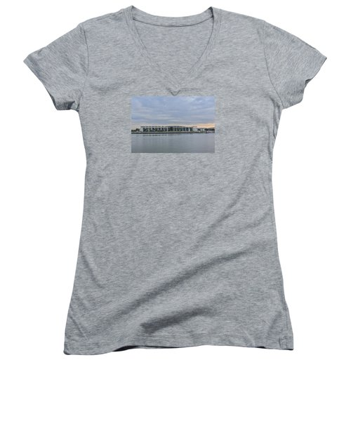 Interntational Trade And Convention Center Women's V-Neck (Athletic Fit)