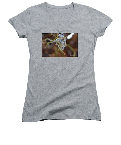 Intertwined In Beauty And Life. -georgia Women's V-Neck