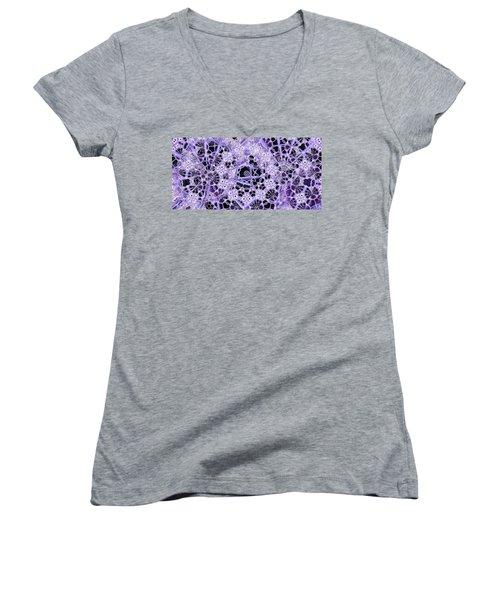 Women's V-Neck T-Shirt (Junior Cut) featuring the digital art Interwoven by Ron Bissett
