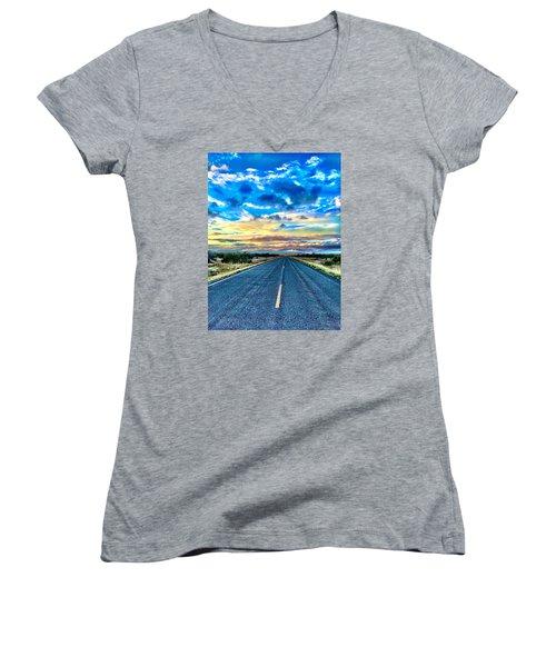 Into Nirvana Women's V-Neck T-Shirt