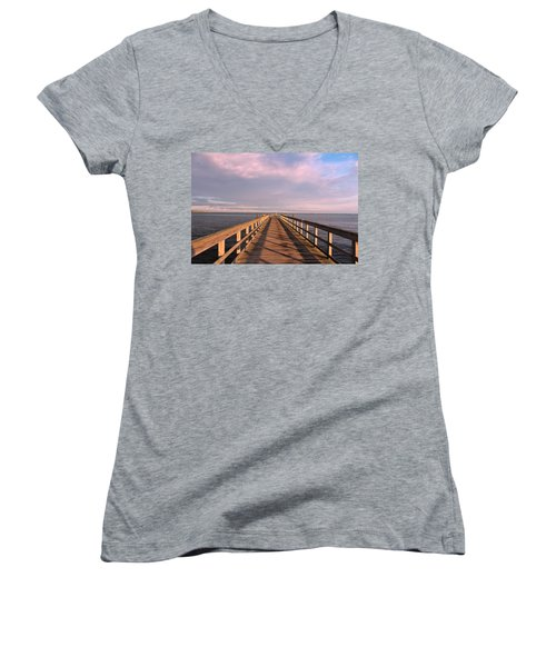 Into The Clouds Women's V-Neck