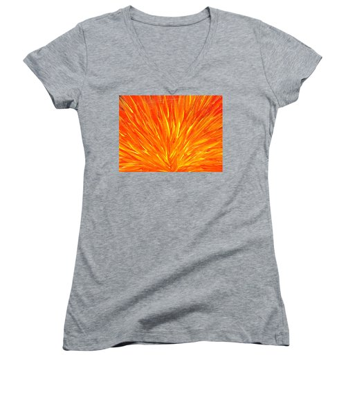 Into The Fire Women's V-Neck T-Shirt