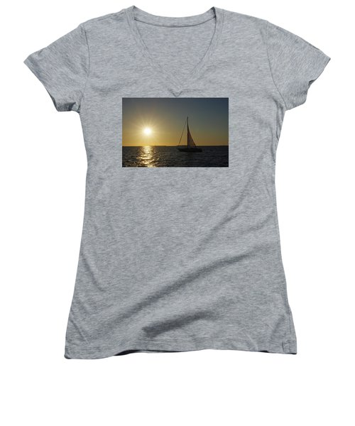 Into The Sun Women's V-Neck T-Shirt