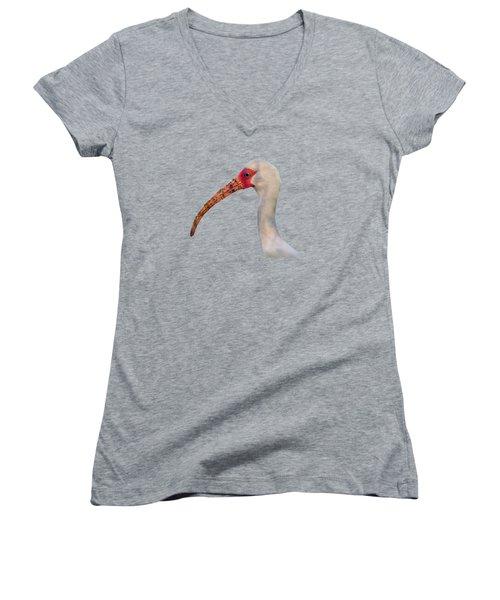 Intriguing Ibis .png Women's V-Neck T-Shirt