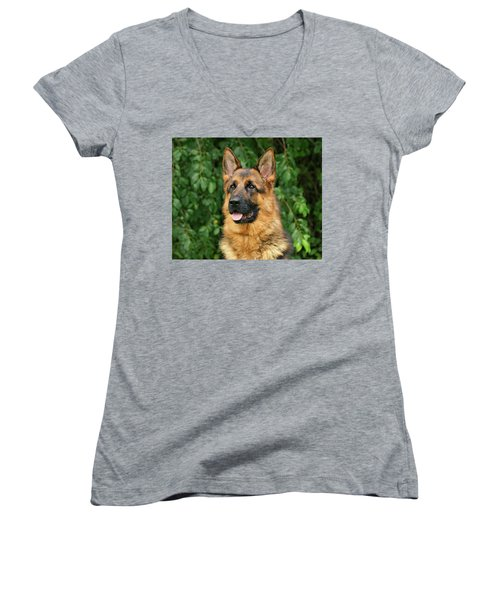 Women's V-Neck T-Shirt (Junior Cut) featuring the photograph Intriguing Ida by Sandy Keeton