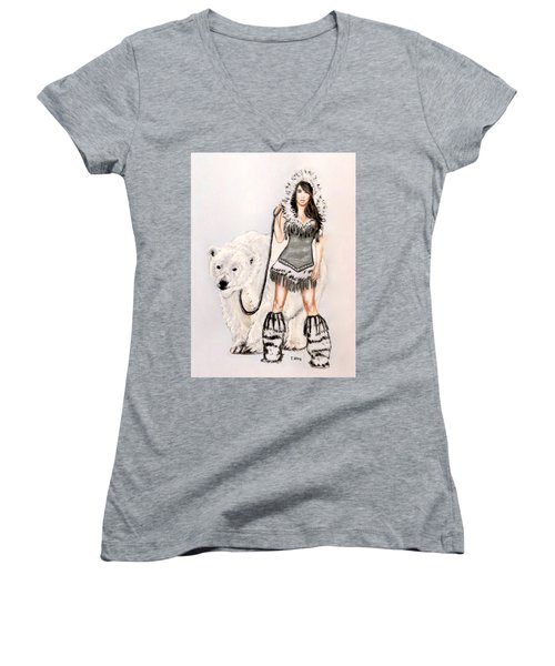 Inuit Pin-up Girl Women's V-Neck