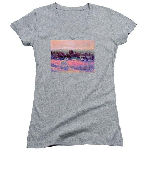 Inv Blend 10 Monet Women's V-Neck T-Shirt (Junior Cut) by David Bridburg